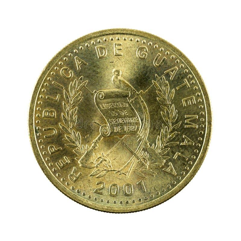 omvänt centavomynt 2001 för 50 guatemalan royaltyfri foto