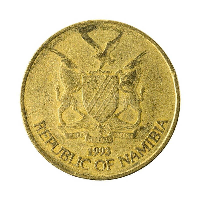 5 omvänt namibian dollarmynt 1993 royaltyfri bild