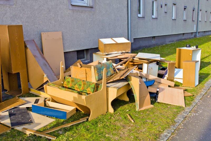 Omvangrijk afval stock afbeeldingen