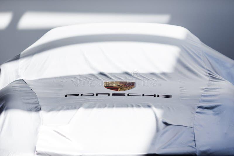 Omvat Porsche stock afbeelding