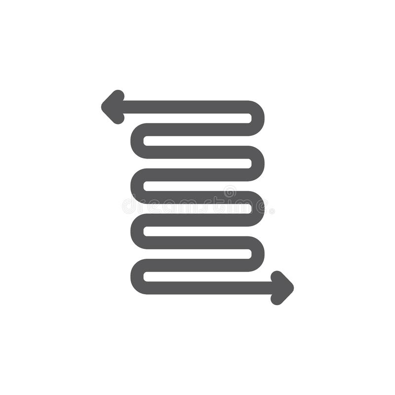 Omweg, de lente en flexibiliteitslijnpictogram stock illustratie