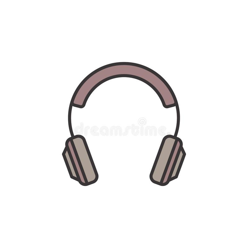 Free On-Ear Headphones Creative Icon. Vector Headphone Sign Stock Photography - 117110422