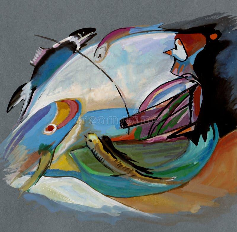 Free On Kandinsky`s Motives Stock Photo - 128003200