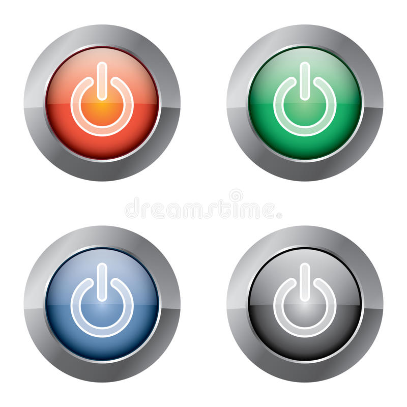 Free On Off Power Button Royalty Free Stock Photos - 17346538