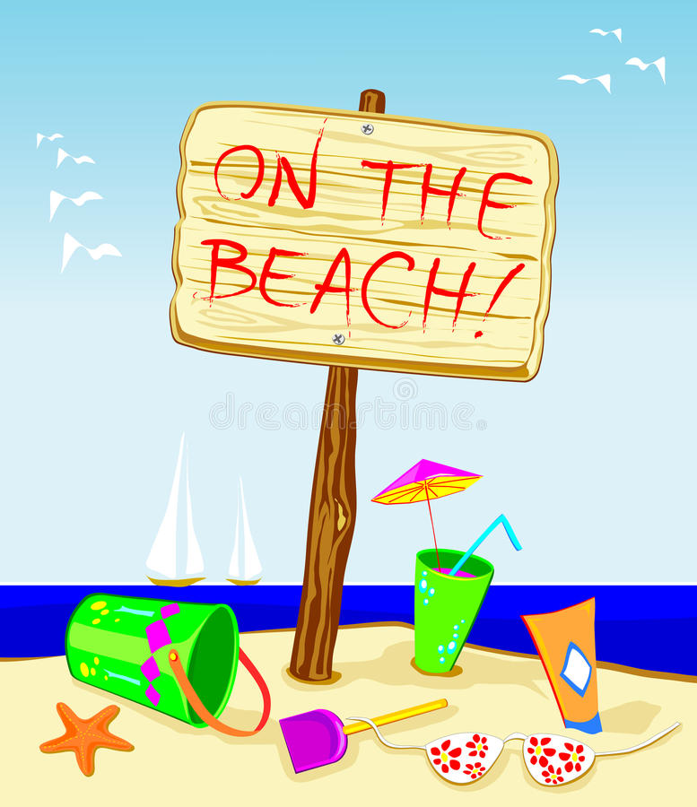 Free On The Beach! Royalty Free Stock Image - 10488676