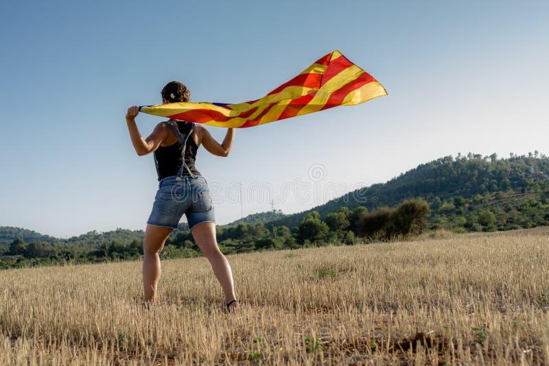 Onafhankelijkheid Catalonië stock afbeelding