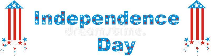 Onafhankelijkheid Dag Four Juli vector illustratie