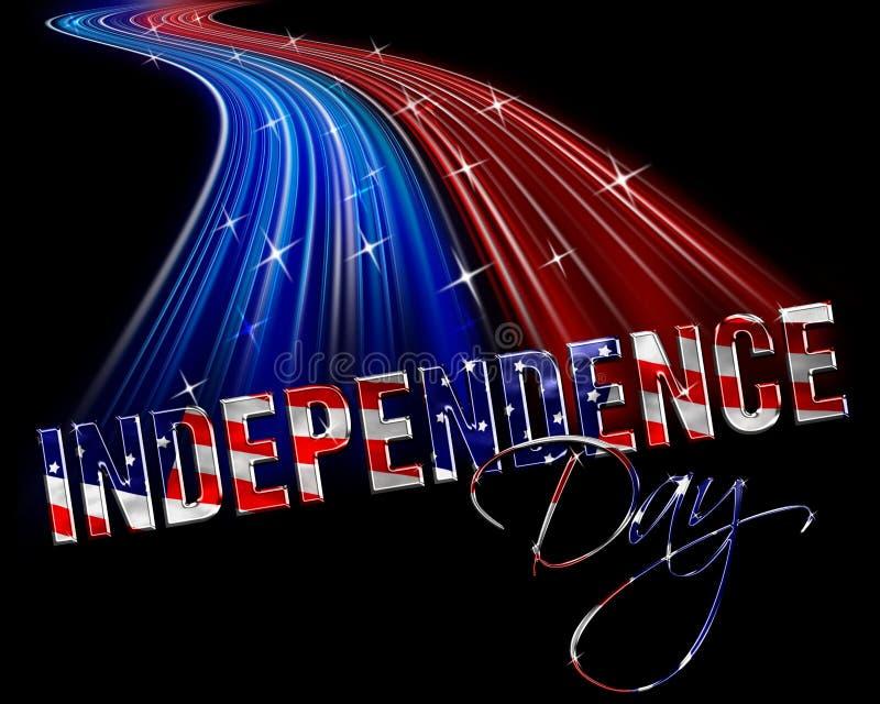 Onafhankelijkheid Dag vierde van Juli royalty-vrije illustratie