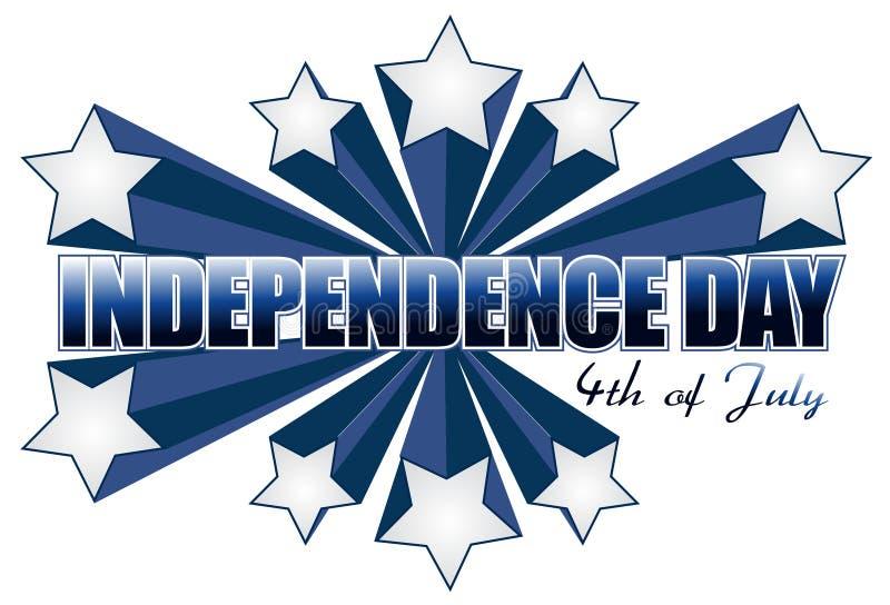 Onafhankelijkheid dag vierde van juli teken royalty-vrije illustratie