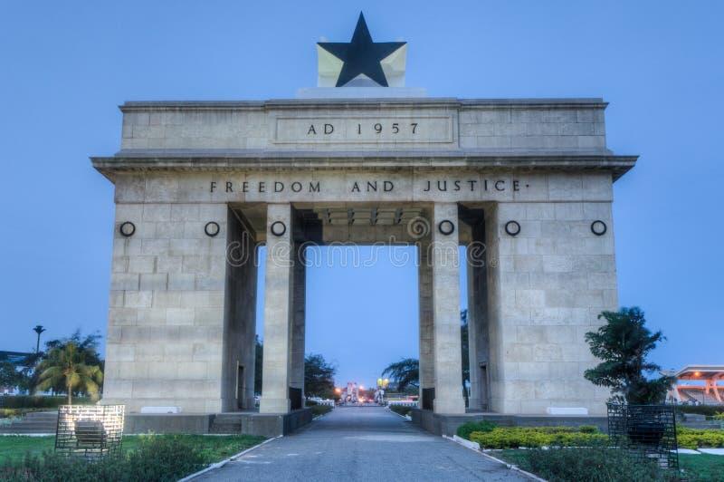 Onafhankelijkheidsboog, Accra, Ghana royalty-vrije stock afbeeldingen