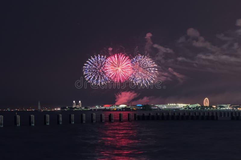 Onafhankelijkheidsdag in Chicago stock foto