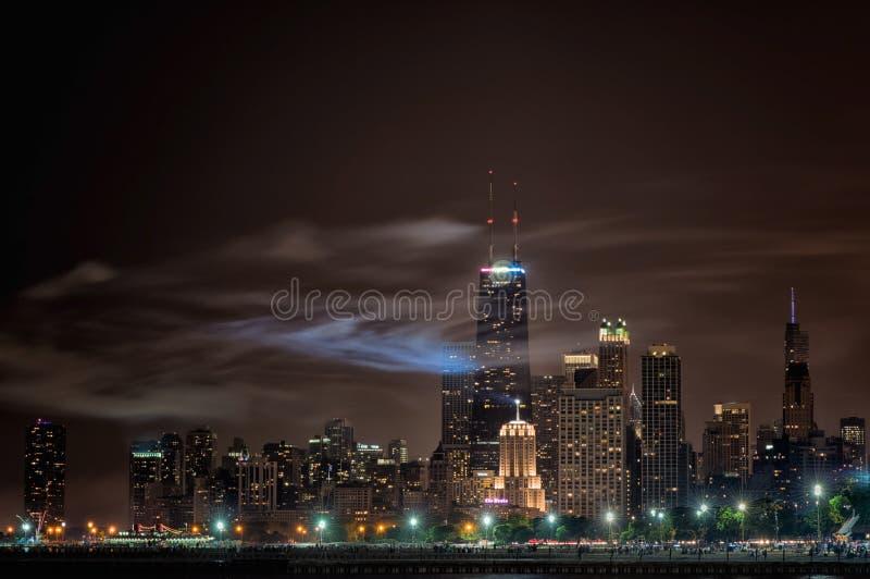 Onafhankelijkheidsdag in Chicago stock foto's