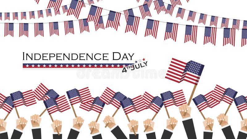 onafhankelijkheidsdag van de V.S. vierde Juli E vlak vector illustratie