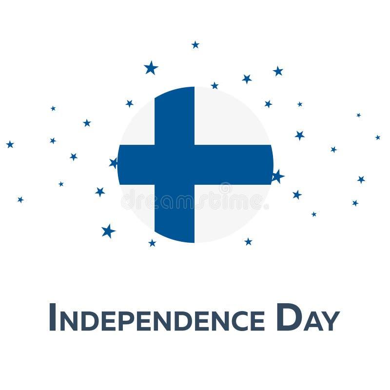 Onafhankelijkheidsdag van Finland Patriottische Banner Vector illustratie vector illustratie
