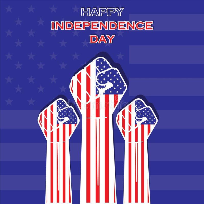 Onafhankelijkheidsdag van het verenigde ontwerp van de staat vector illustratie