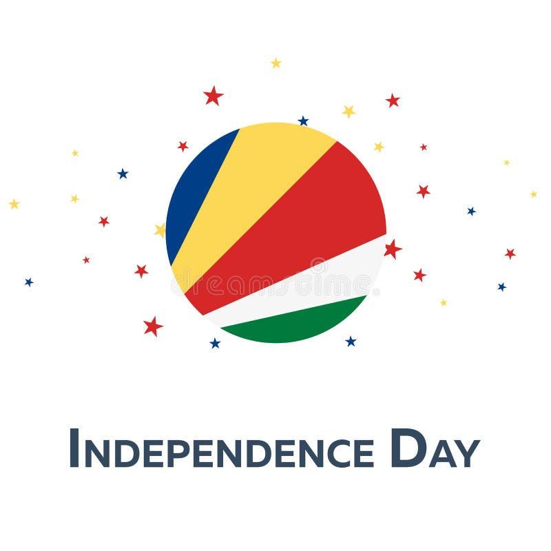 Onafhankelijkheidsdag van Seychellen Patriottische Banner Vector illustratie royalty-vrije illustratie