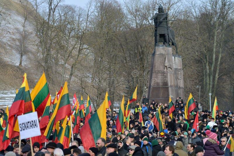 Onafhankelijkheidsdag, Vilnius, Litouwen stock foto