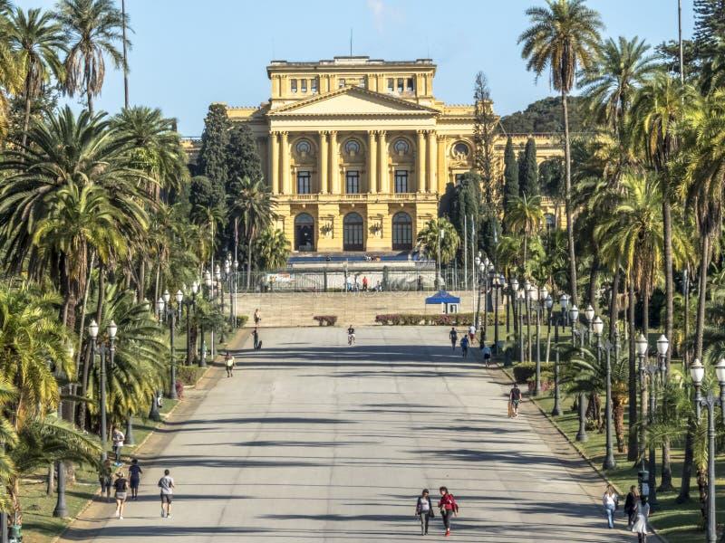 Onafhankelijkheidspark en Museu Paulista van de Universiteit van Sao Paulo royalty-vrije stock fotografie