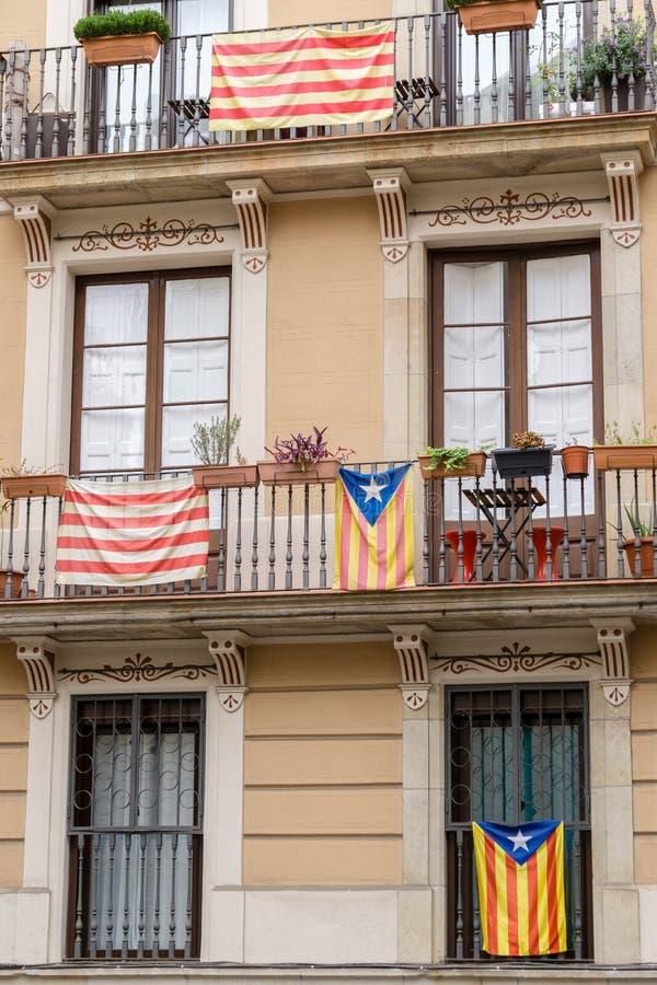 Onafhankelijkheidsvlaggen royalty-vrije stock afbeelding