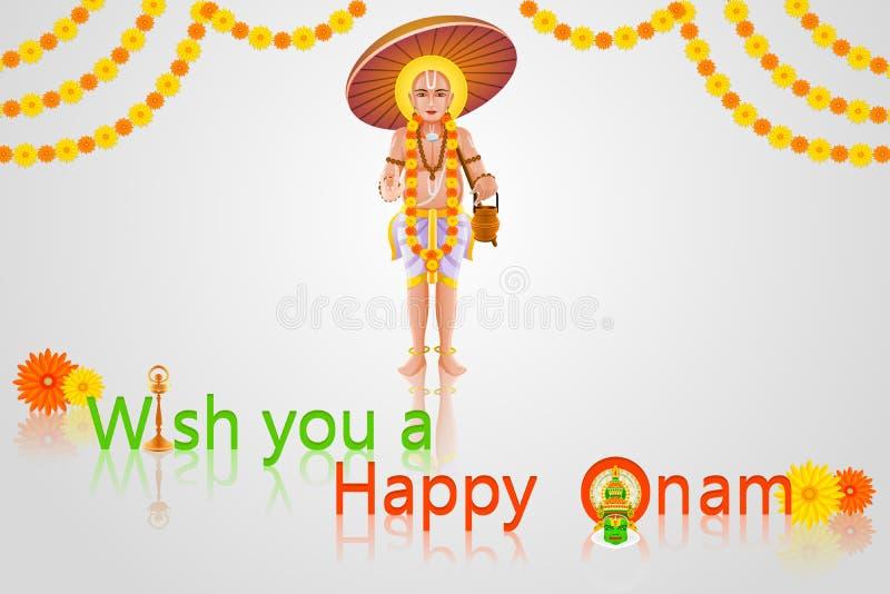 Download Onam Greetings stock vector. Image of chingam, hinduism - 32933139