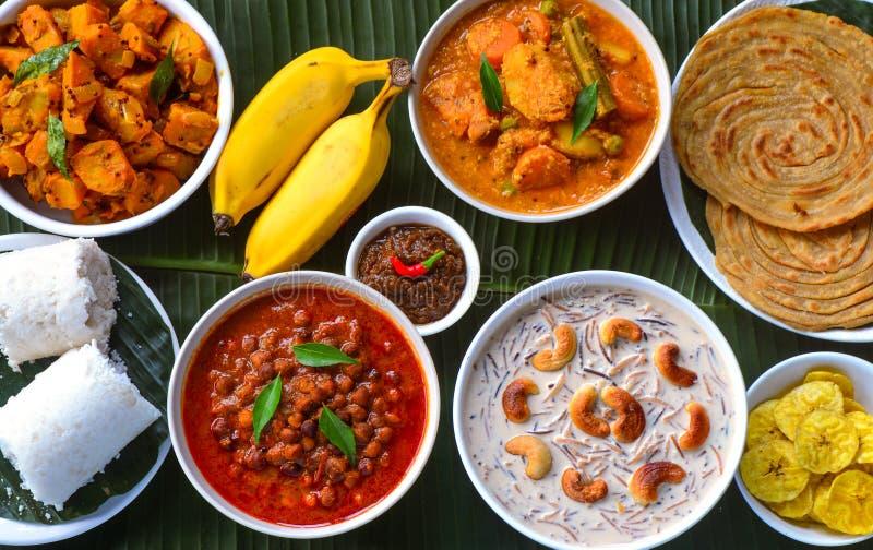 Onam Sadya. Kerala Cuisine in Southern India stock photos
