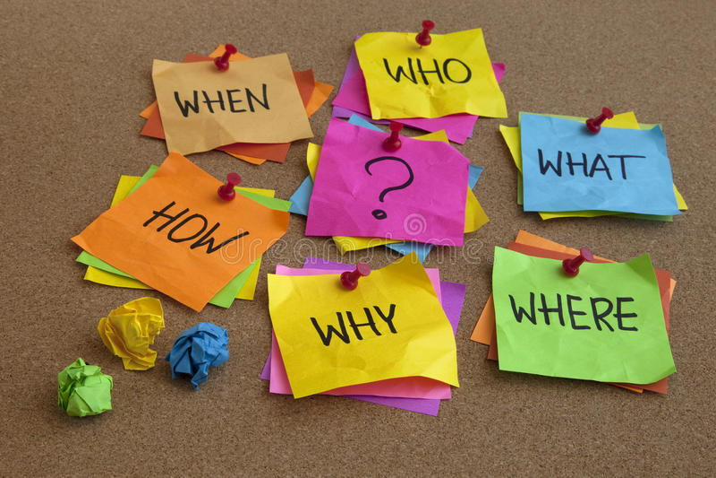 Onbeantwoorde Vragen - Brainstormingsconcept Stock Foto