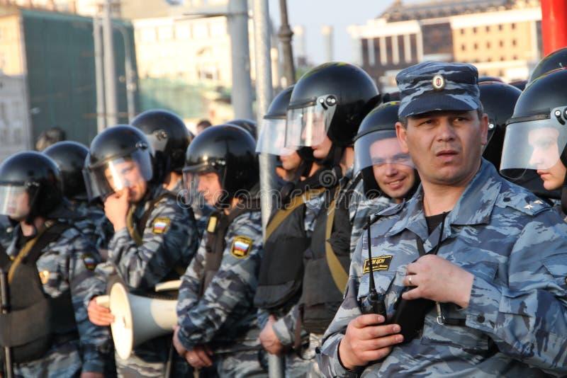 Onbekende bevelhebber van de politie-eenheid stock afbeelding