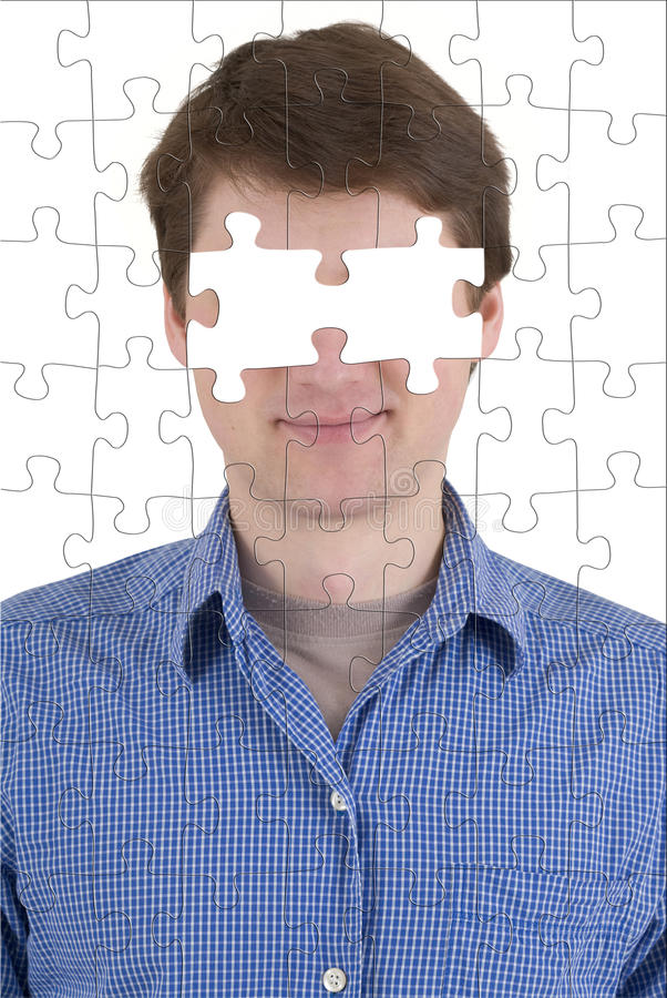 Onbekende persoon met afwezigheid van ogen stock fotografie