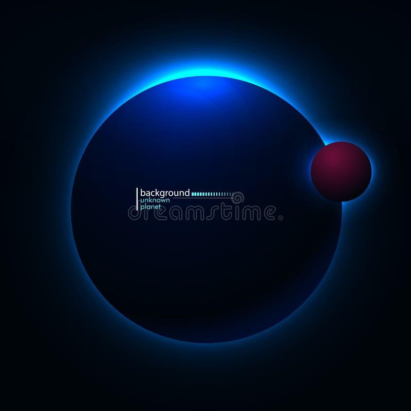 onbekende planeet in ruimte stock illustratie