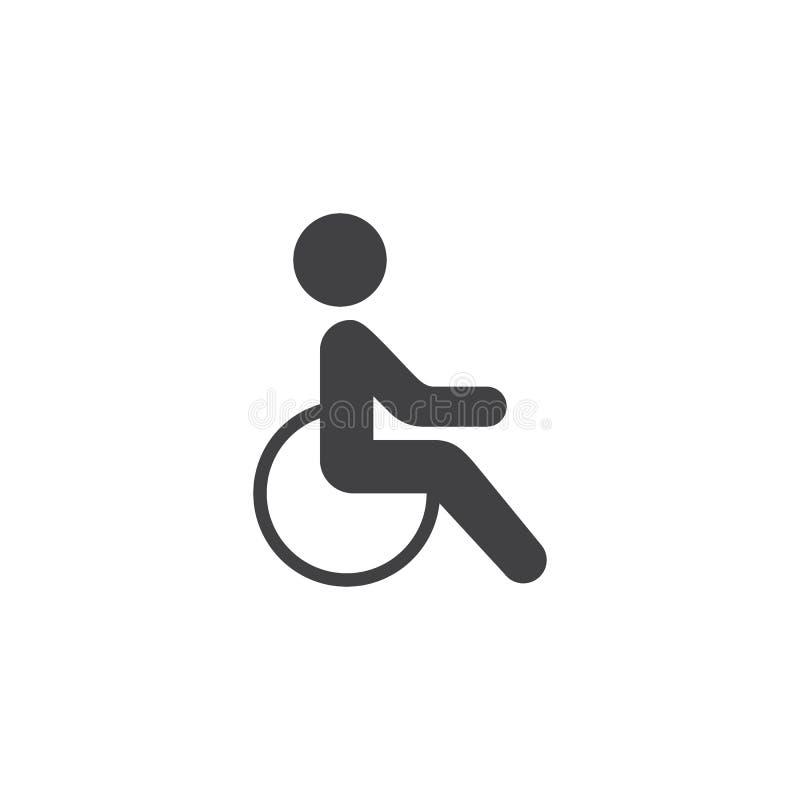 Onbekwaamheid, handicap vectorpictogram stock illustratie
