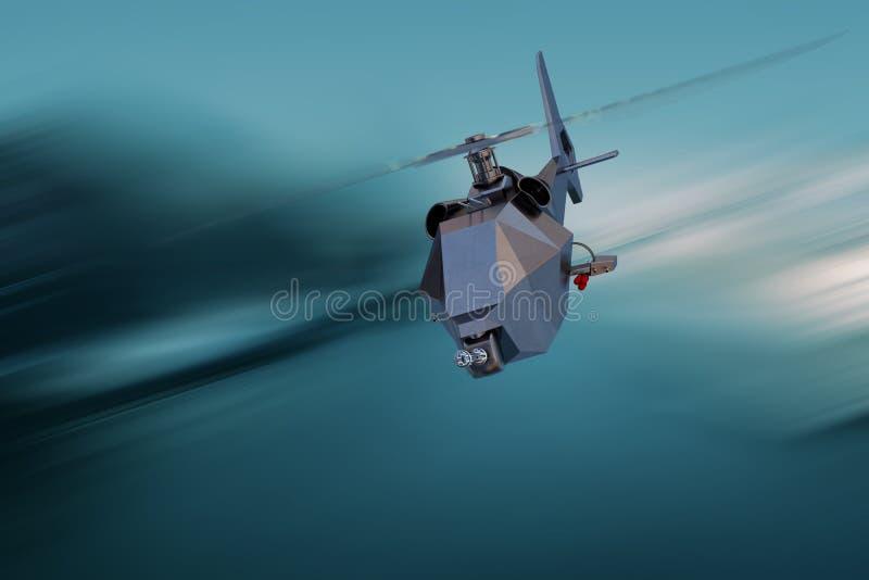 Onbemande Luchtvoertuighommel tijdens de vlucht royalty-vrije stock afbeeldingen