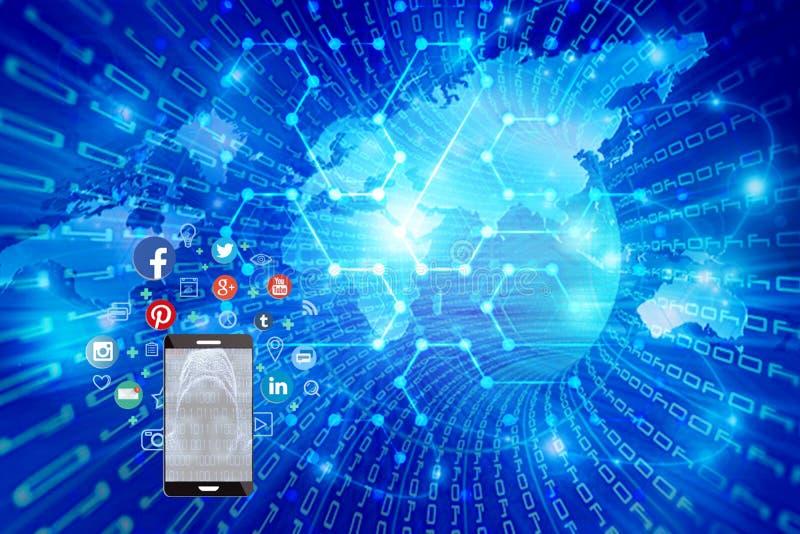 Onbeschermde vlucht van privé informatie over sociale netwerken royalty-vrije stock afbeeldingen
