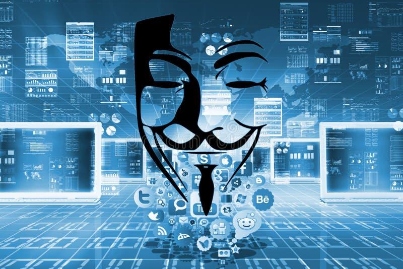 Onbeschermde vlucht van privé informatie over sociale netwerken stock afbeelding