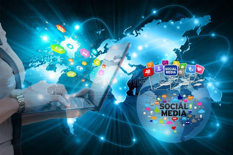 Onbeschermde vlucht van privé informatie over sociale netwerken royalty-vrije stock fotografie