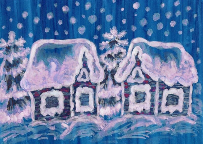 Onblue de photo de Noël illustration libre de droits
