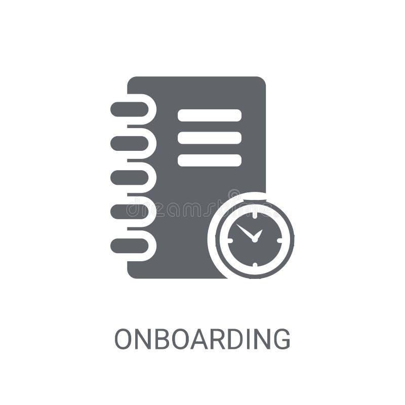 Onboarding象 在白色backgro的时髦Onboarding商标概念 向量例证