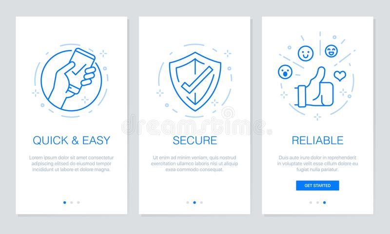 Onboarding App Screens. Modern And Simplified Vector Illustration ...