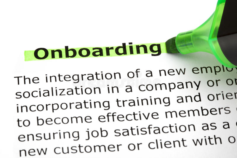 Onboarding Highlighted With Green Marker stock images