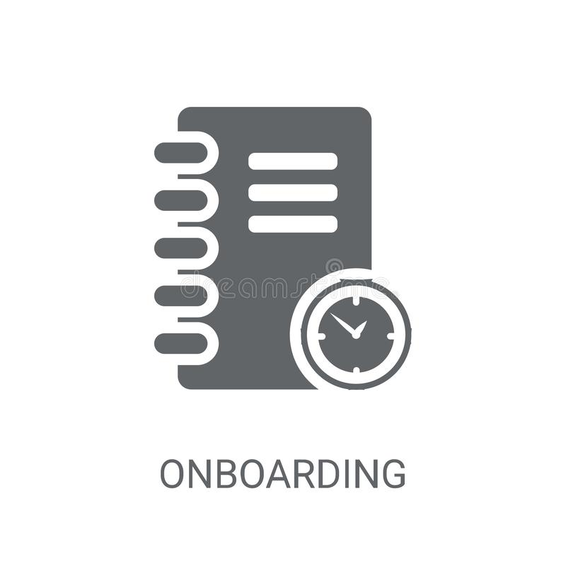 Onboarding icon. Trendy Onboarding logo concept on white backgro vector illustration