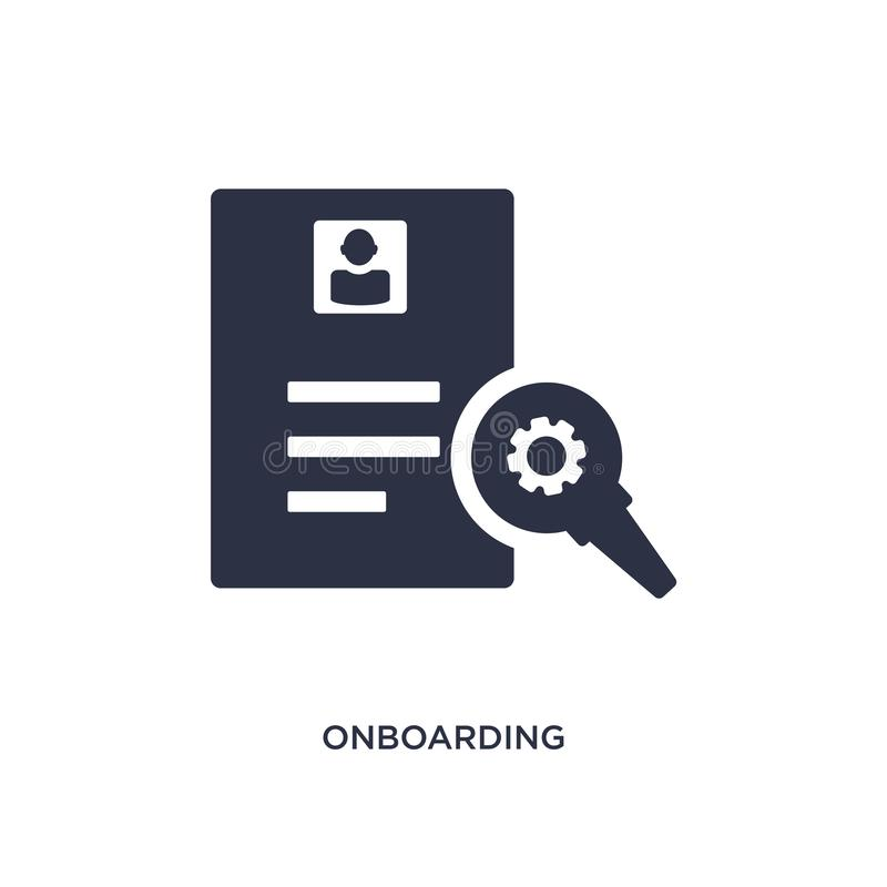 onboarding icon on white background. Simple element illustration from human resources concept royalty free illustration