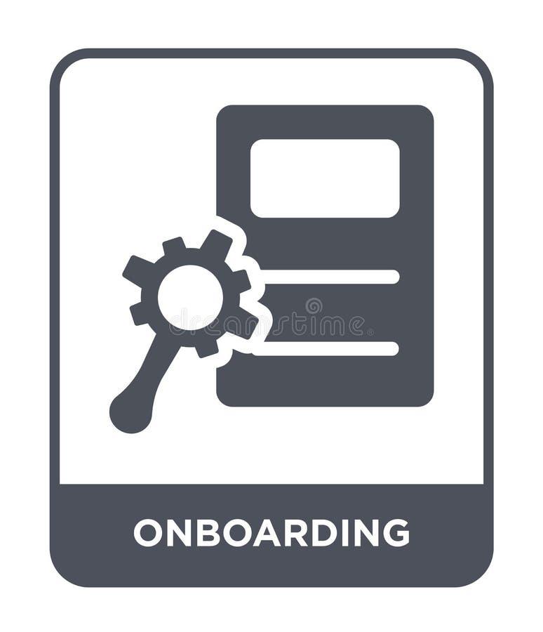 onboarding pictogram in in ontwerpstijl onboarding die pictogram op witte achtergrond wordt geïsoleerd onboarding vector eenvoudi stock illustratie
