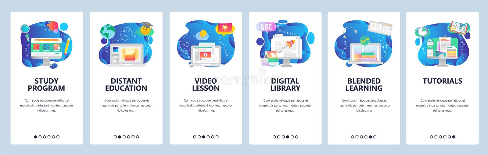 Website and mobile app onboarding screens vector template vector illustration
