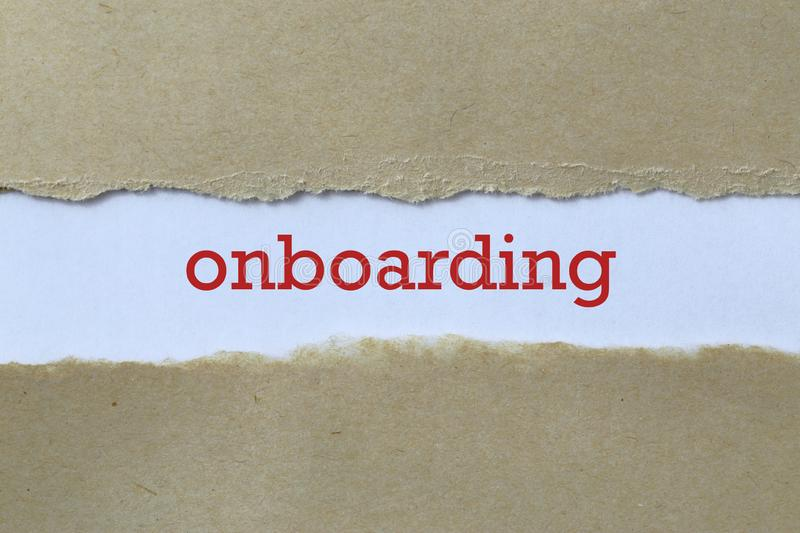 Onboarding word on white royalty free stock photo