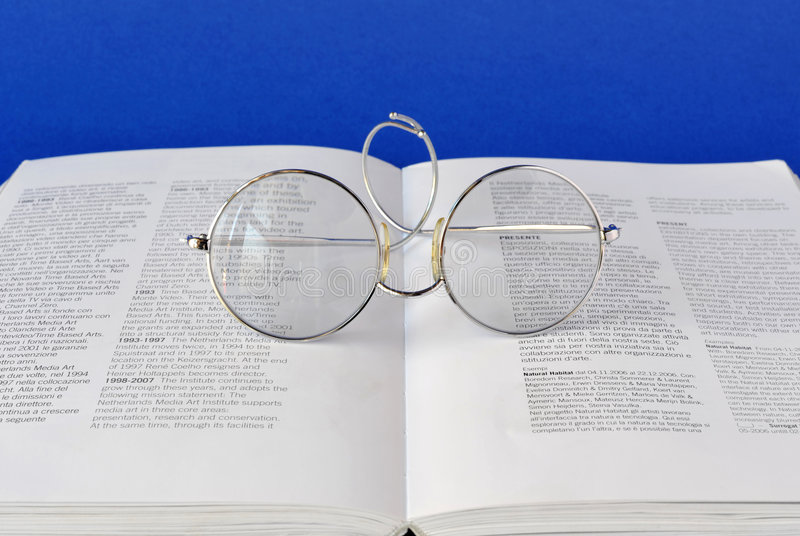 Onbook di vetro fotografie stock libere da diritti