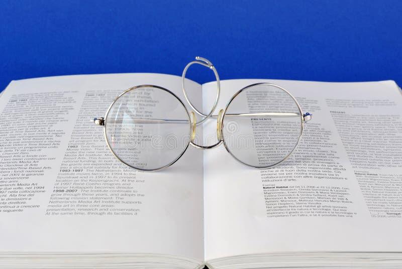 Onbook dos vidros fotos de stock royalty free