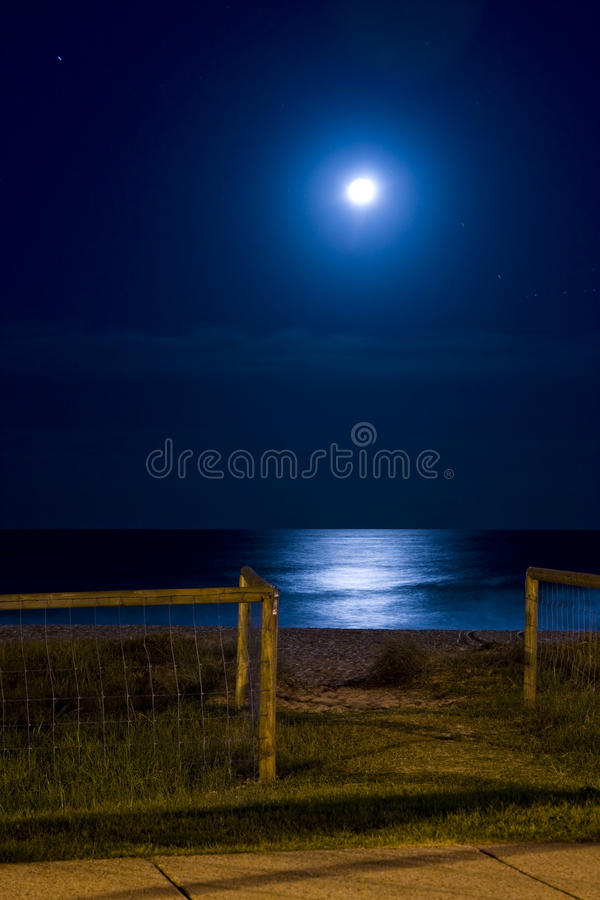 Once in a Blue Moon. Coastalscape series; Australia: Night images around the coast royalty free stock photo