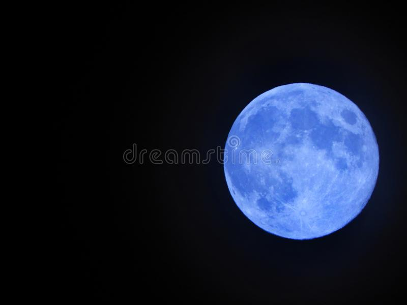 Once in a Blue Moon stock images