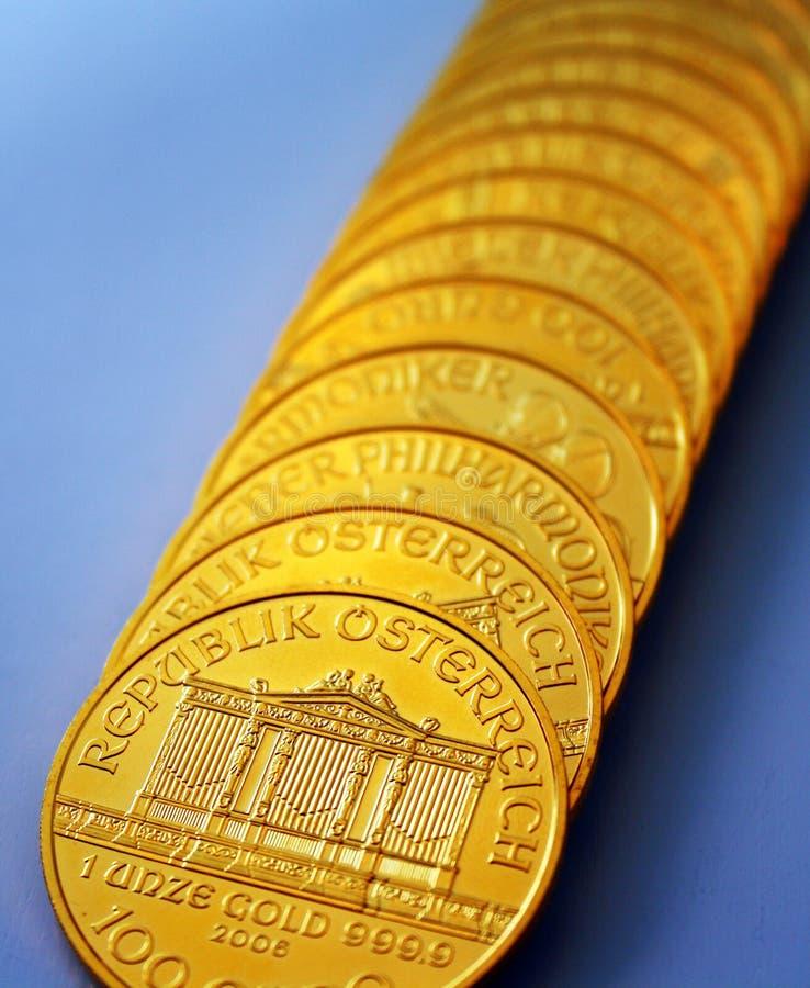 Once dell'oro immagine stock