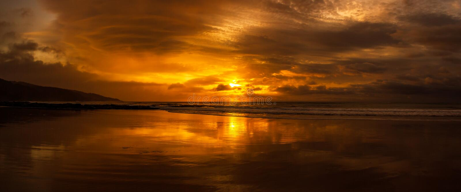 once in a life time beautiful sunrise over the indian ocean, waves are breaking at the great ocean road, victoria, australia stock images