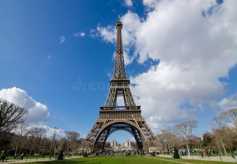 Once in a life time in Paris stock image